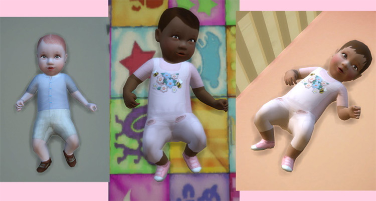 Baby Boy & Baby Girl Outfits TS4 CC