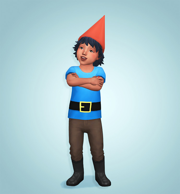 Toddler Gnome Costume CC for TS4
