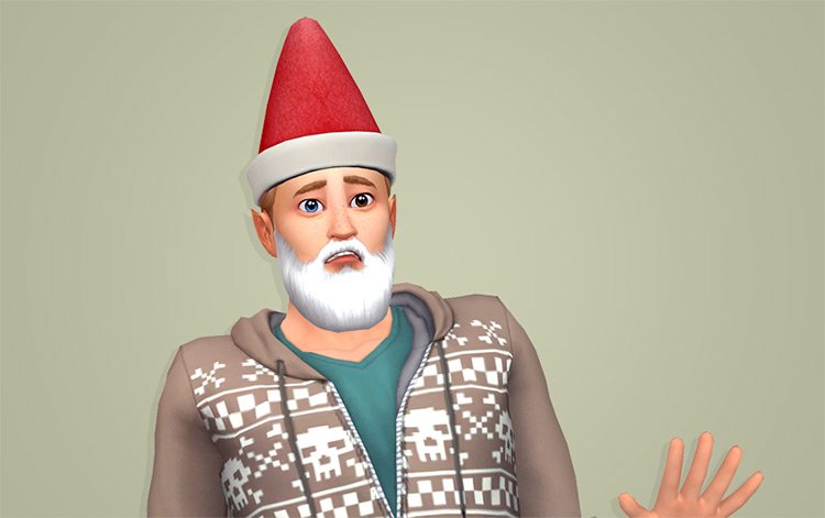 Gnome Hat CC for The Sims 4