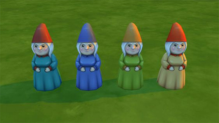 Lady Gnome Decor CC for The Sims 4