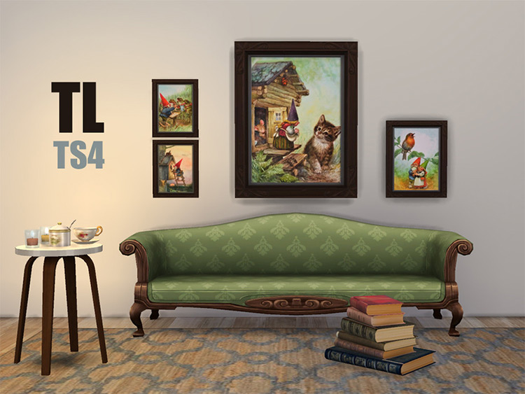 Secret Life of Gnomes Painting - TS4 CC