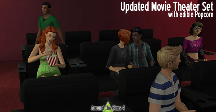 Theater Seats and Movie Clutter - TS4 CC