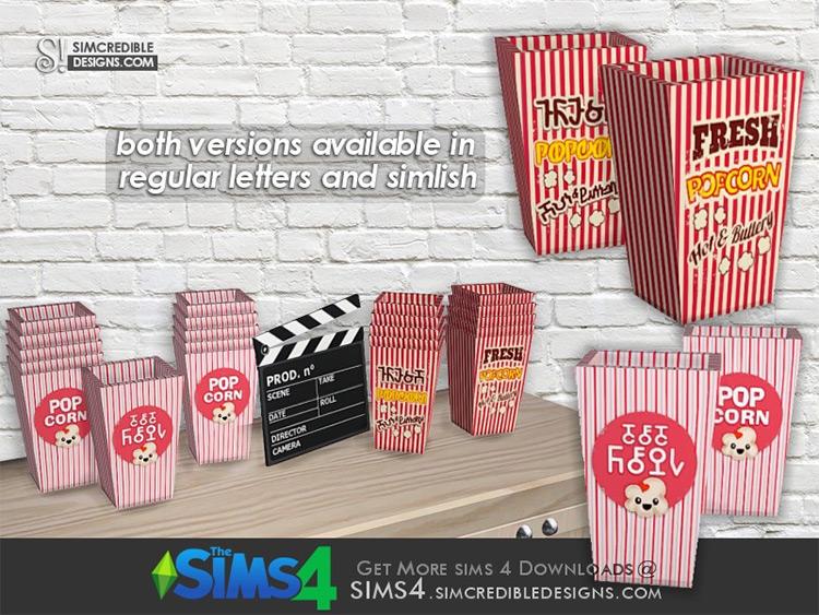 Popcorn Box Object CC - The Sims 4