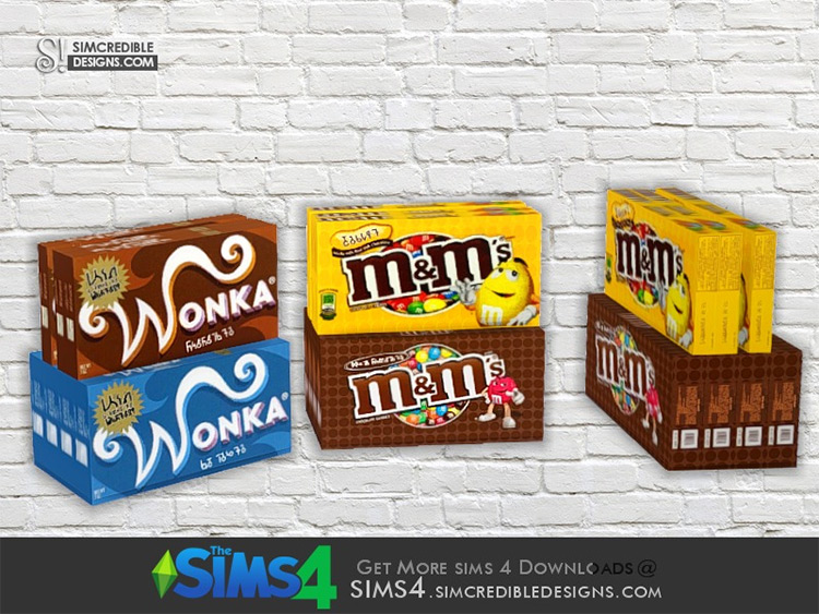 Chocolate Boxes for movies - Sims 4 CC