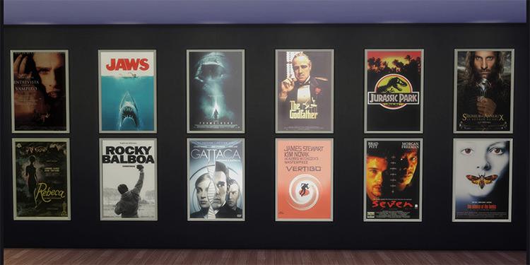 Cinema Posters - Sims 4 CC