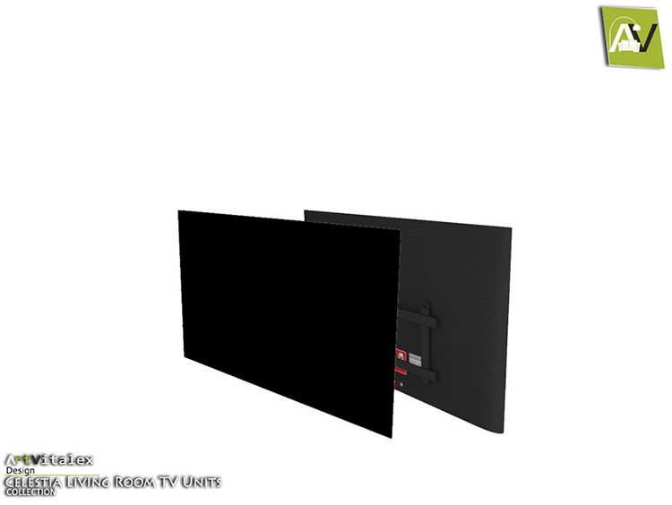 Celestia Wall Television For Home Theater - Sims 4 CC