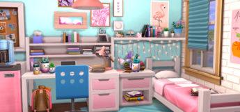 TS4 Girls College Dorm Room Design