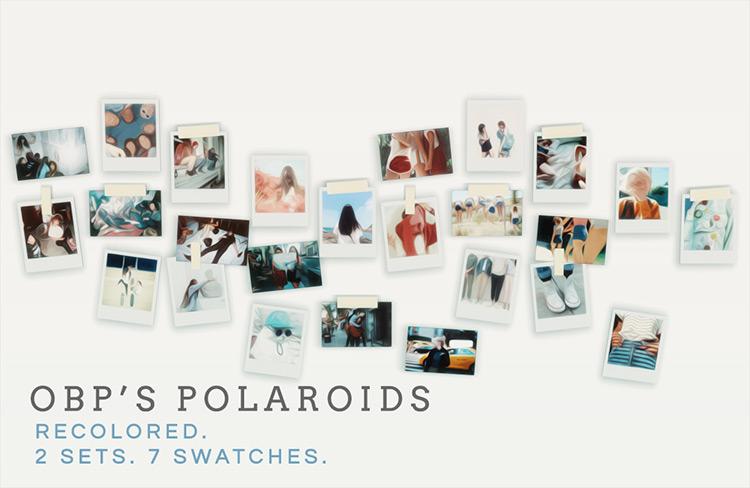 Polaroid Photos CC - The Sims 4
