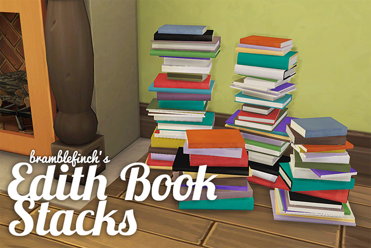 Book Stacks Clutter - Sims 4 CC