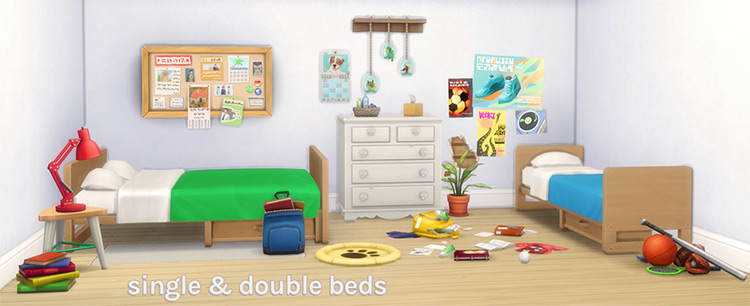 University Beds and Bunks - Sims 4 CC
