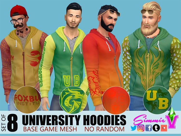 University Hoodies - Sims 4 CC