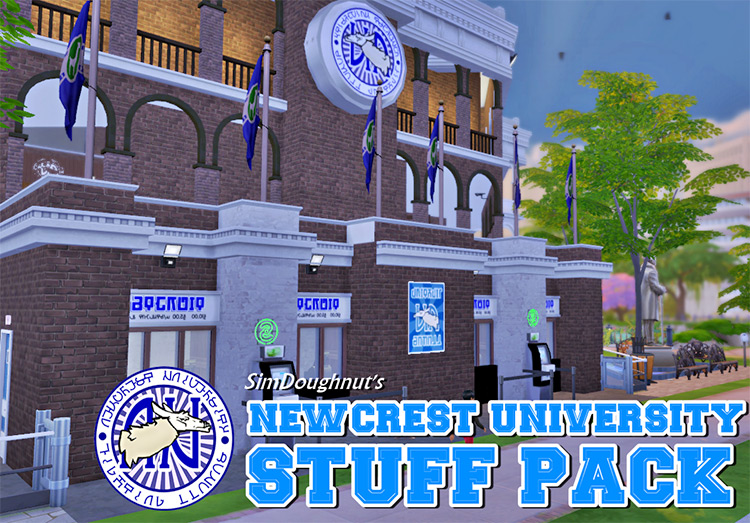 Newcrest University Stuff Pack - Sims 4 CC