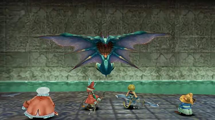 Gizamaluke boss battle in Final Fantasy 9