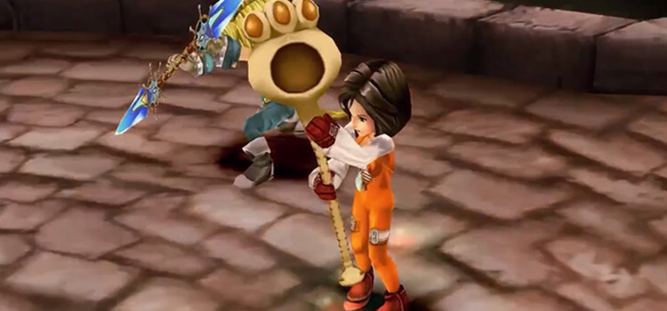 Garnet Summoning an Eidolon in FF9