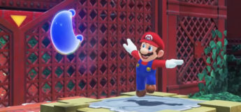 Mario in Super Mario Odyssey with Blue Moon