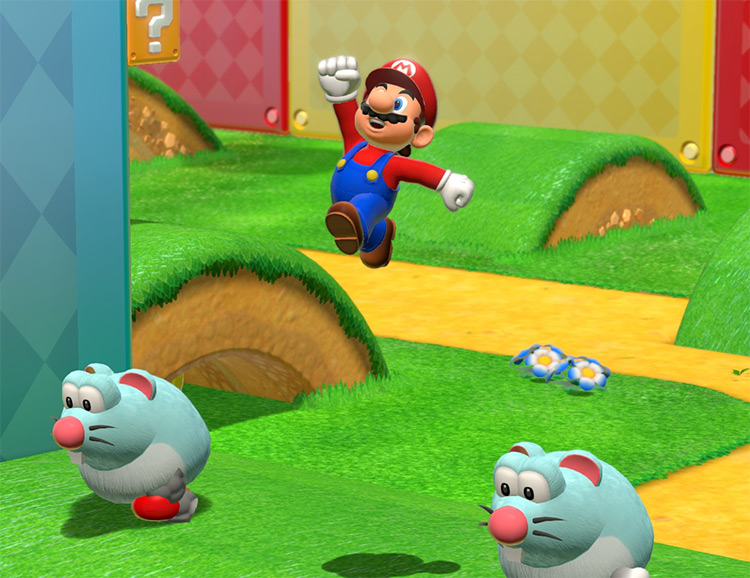 Mario in Super Mario 3D Switch