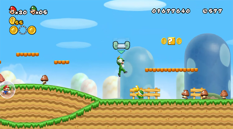 Luigi in-game screenshot