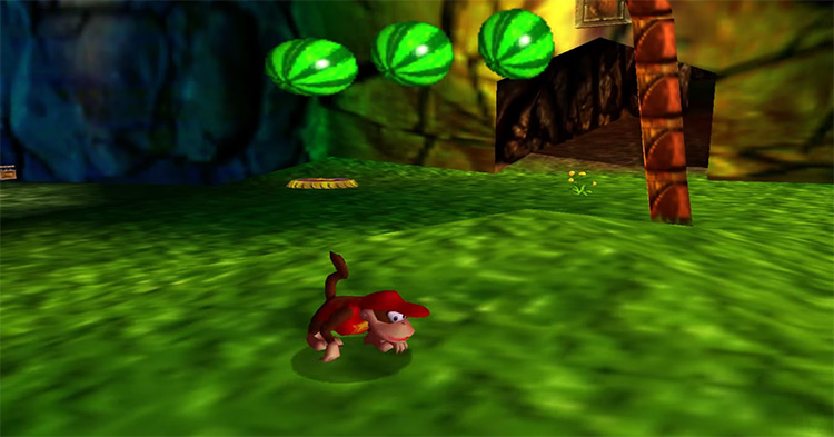 Diddy Kong from  DK 3D N64