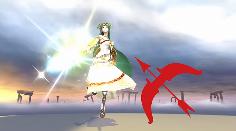 Palutena in Kid Icarus screenshot