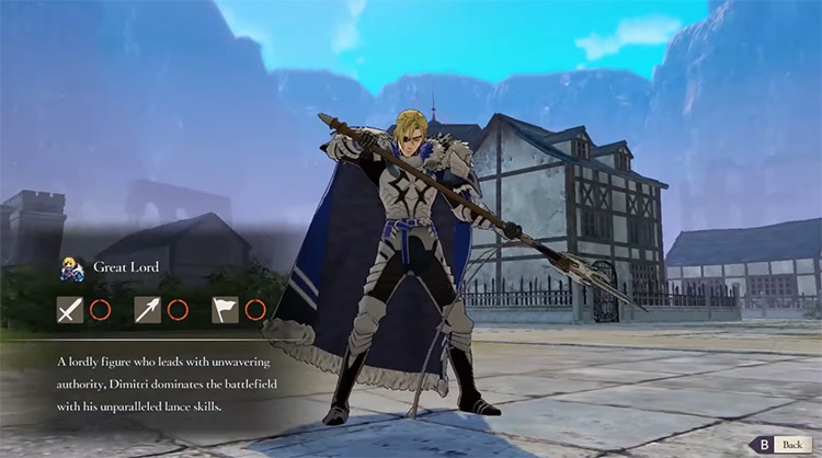 Dimitri from Fire Emblem: Three Houses screenshot