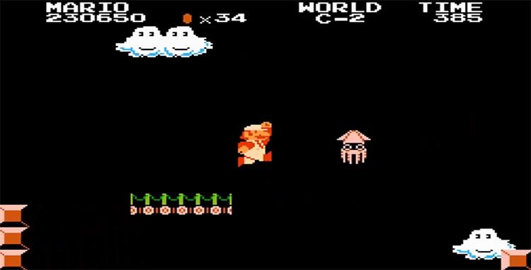 Bloopers Nintendo Character in Super Mario