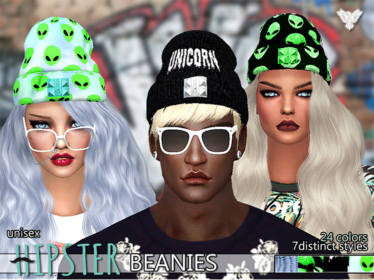Hipster Fantasy Beanies CC - TS4