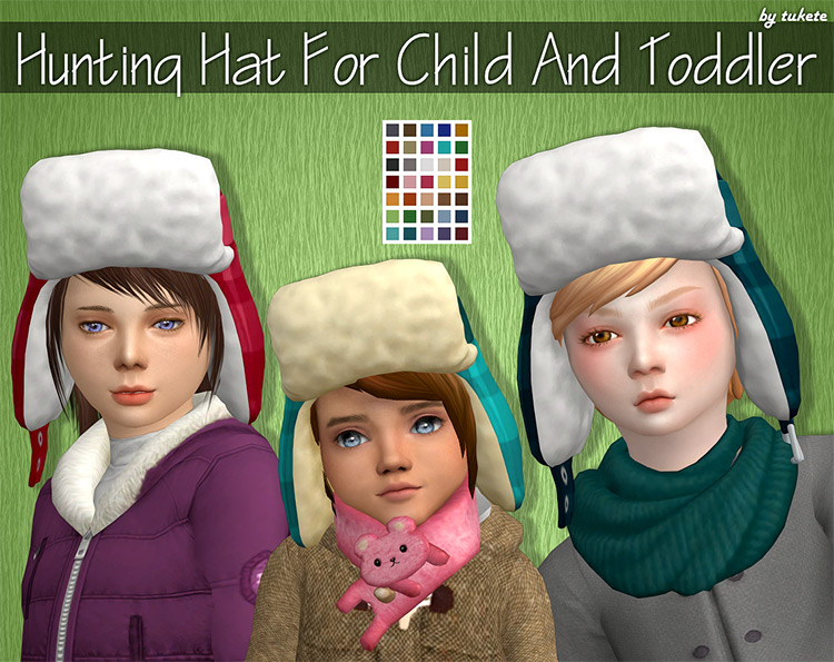 Hunting Hat for Child/Toddler Sims - TS4