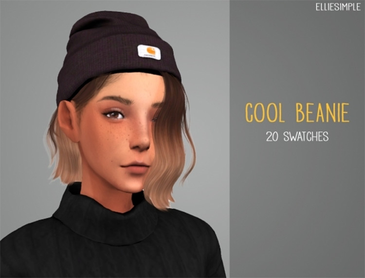Cool Beanie CC Design - Sims 4