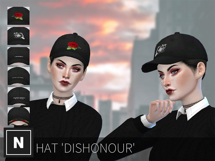 Dishonour Hat CC for The Sims 4