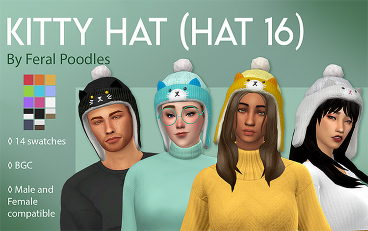 Kitty Hat CC for The Sims 4