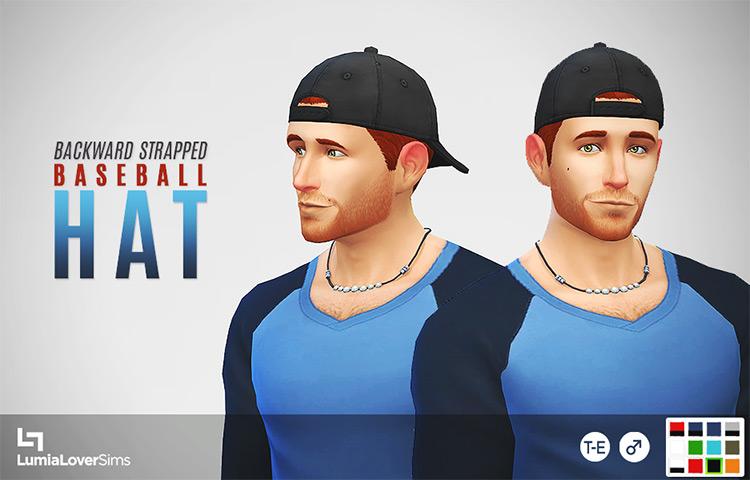 Backwards Strapped Baseball Hat CC for Men - TS4