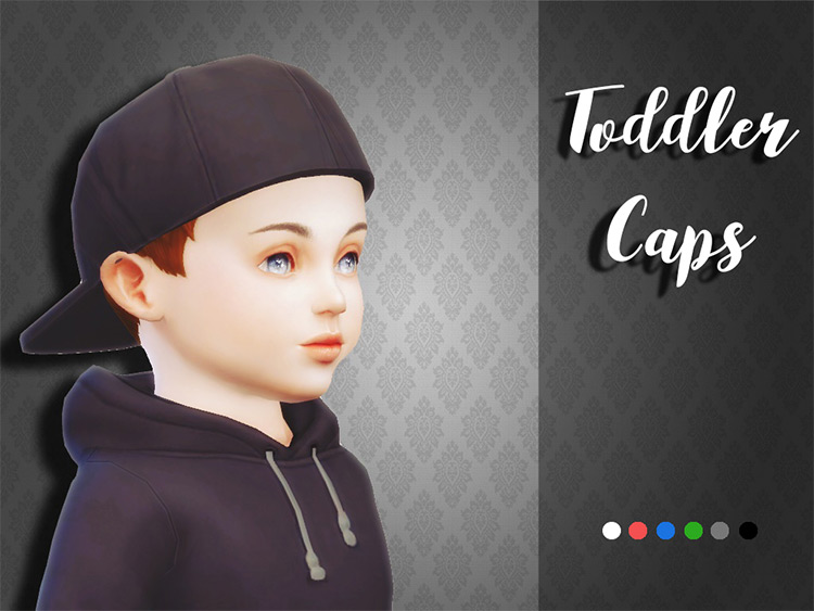 Toddler Caps CC for The Sims 4
