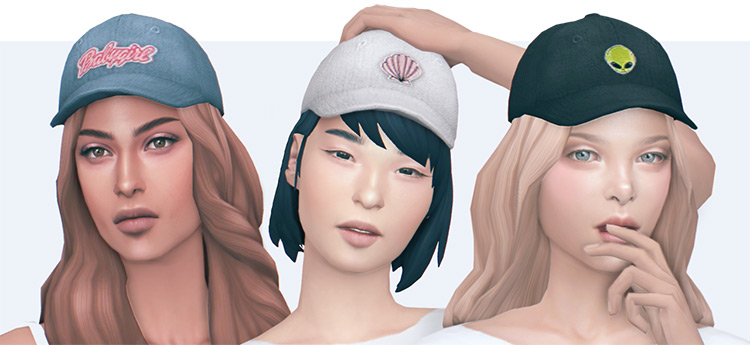 Babygirl Hats CC for The Sims 4
