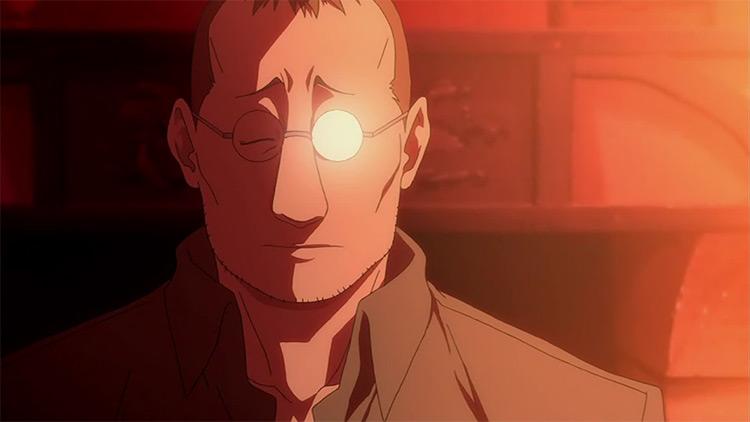 Shou Tucker in Fullmetal Alchemist: Brotherhood