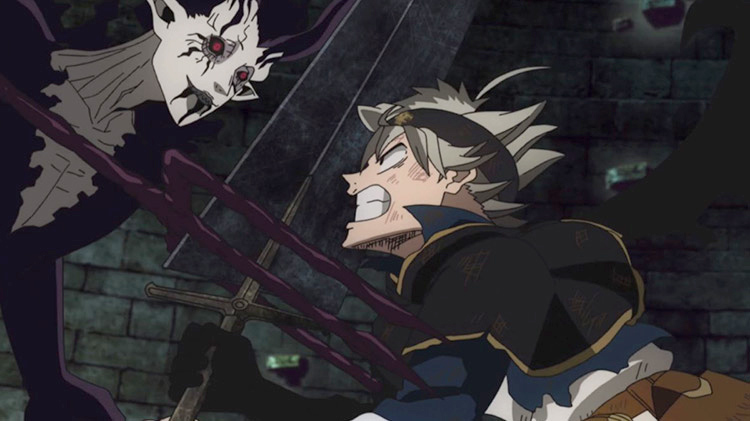 Captura de pantalla del anime Black Clover