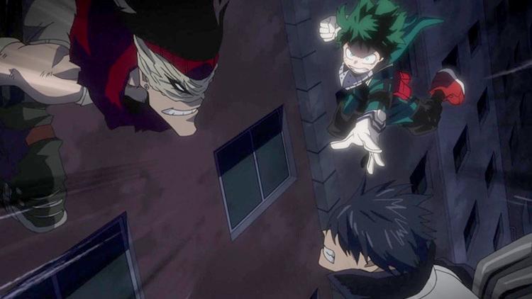 My Hero Academia anime fight scene