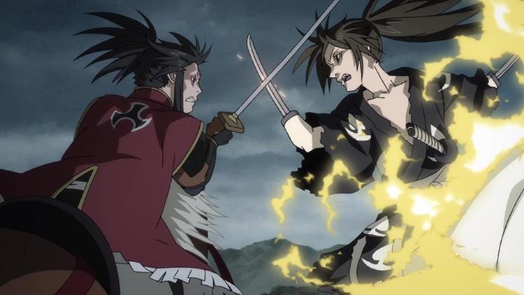 Dororo anime fight scene