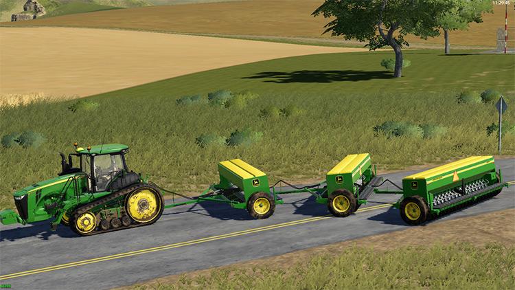 John Deere 8350 Seeder - FS19 Mod