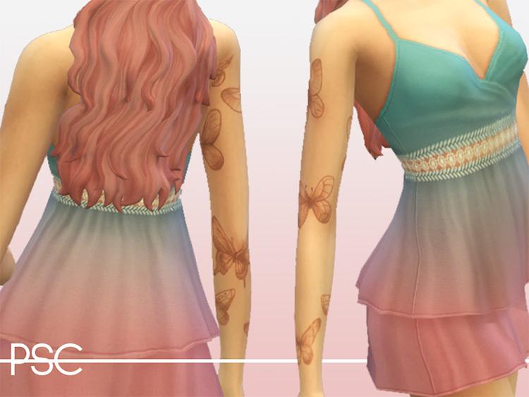 Butterfly Sleeve Tattoos CC - TS4