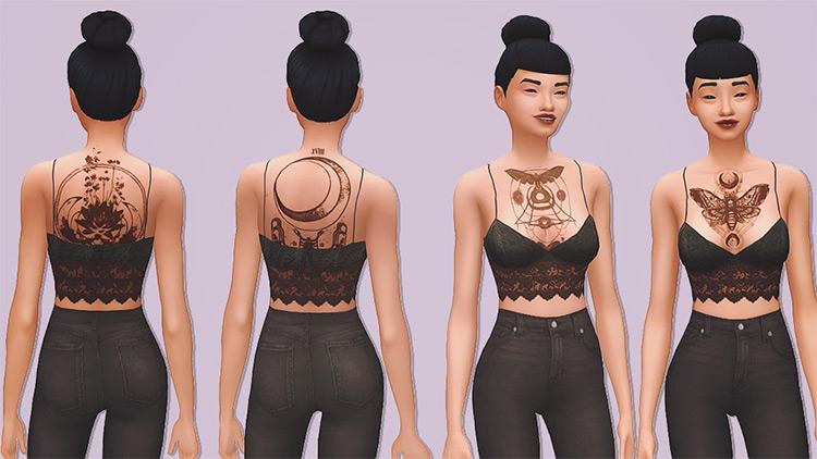Cold Spell Tattoos Geometric Shapes - TS4 CC