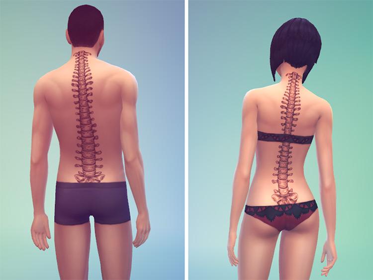 Spine Tattoo Design - Sims 4 CC