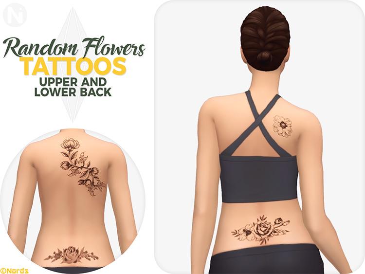 Random Flowers Set - Sims 4 Tattoos CC