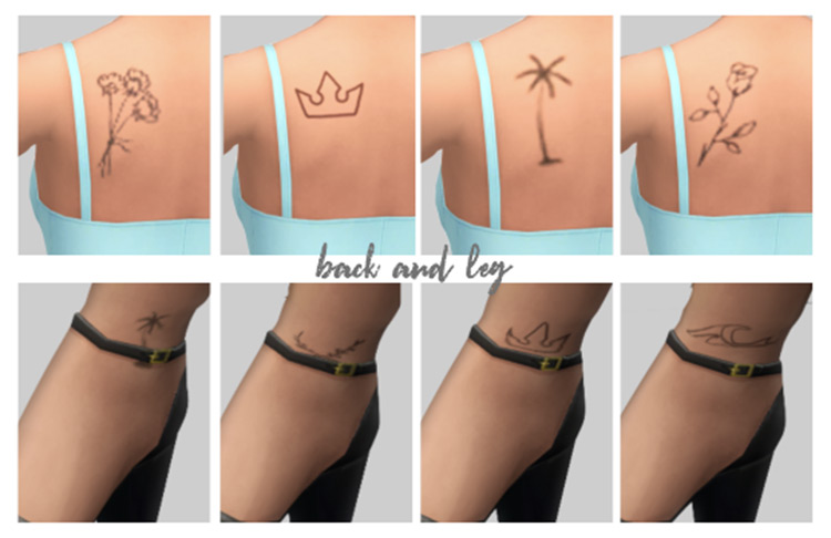 Dainty Tattoo Set for The Sims 4