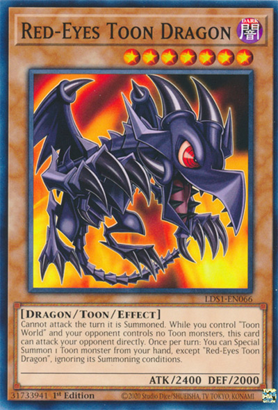 Red-Eyes Toon Dragon YGO Card