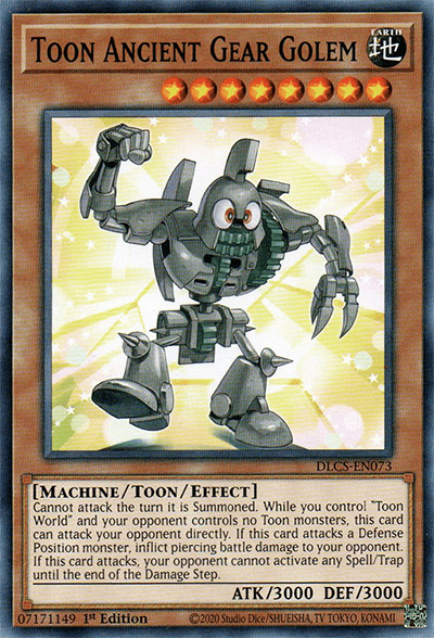 Toon Ancient Gear Golem YGO Card
