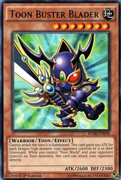 Toon Buster Blader YGO Card
