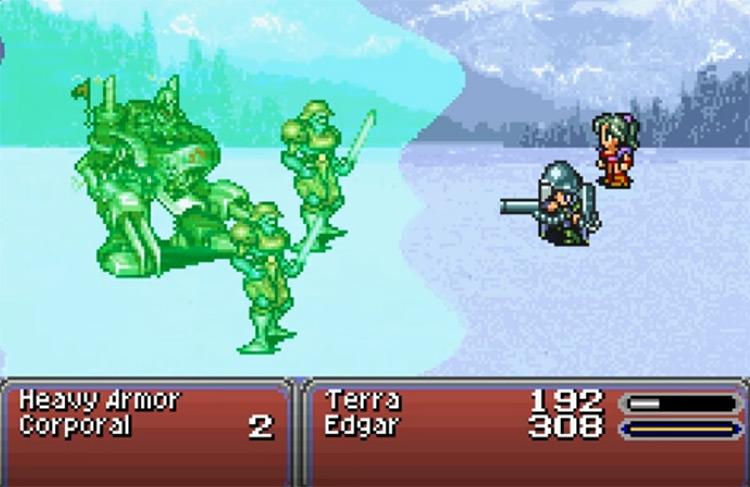 Defending The Esper Battle in FF6 Advance