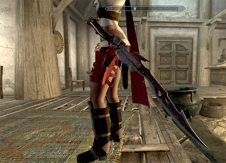 FF13 Blazefire Saber Sword Mod for Skyrim