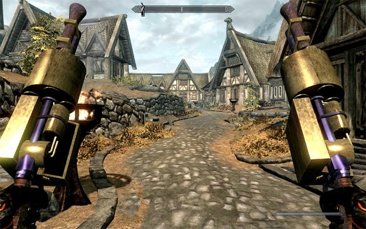 Dwemer weapon mod example - Skyrim