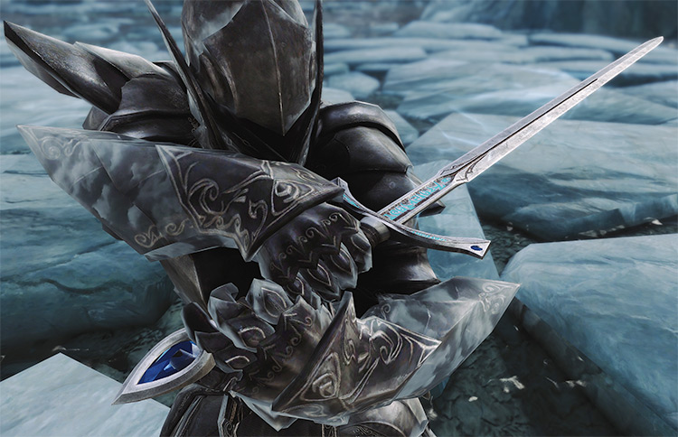 Ice Blade of the Monarch Weapon Mod for Skyrim